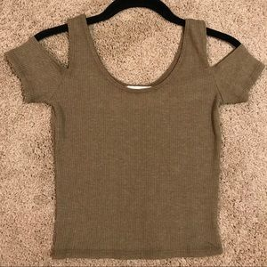 Pacsun LA Hearts Olive Crop Top